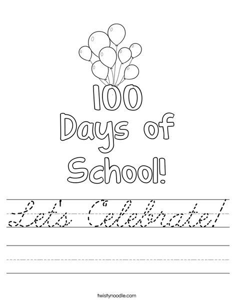 100 days of school Worksheet