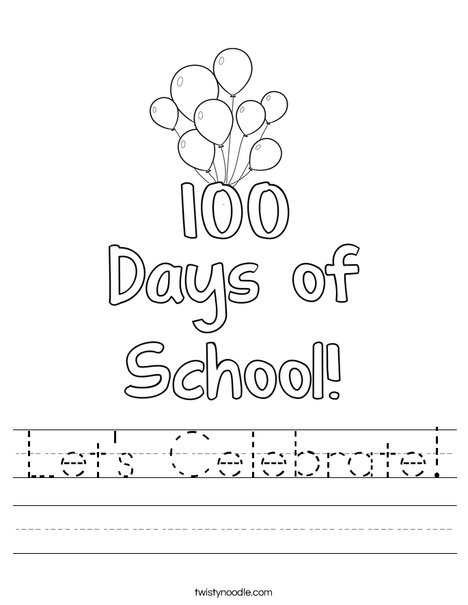 100 days of school Worksheet