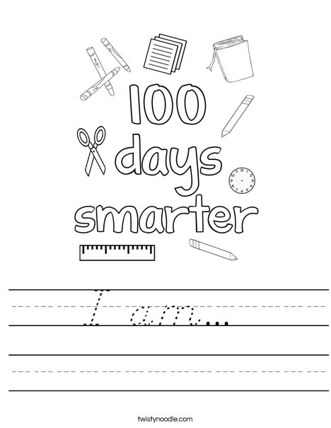 100 days smarter Worksheet