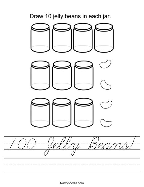 100 Jelly Beans! Worksheet