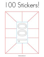 100 Stickers Coloring Page