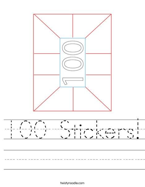 100 Stickers! Worksheet