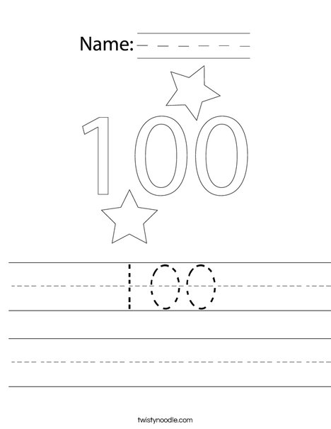 100 Worksheet