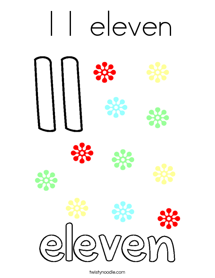 11 eleven Coloring Page