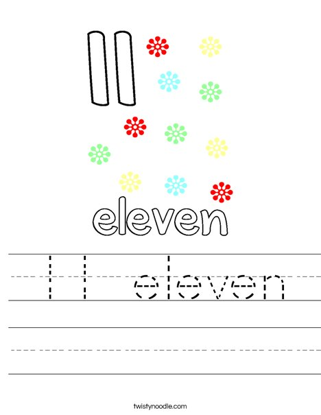 11 eleven Worksheet