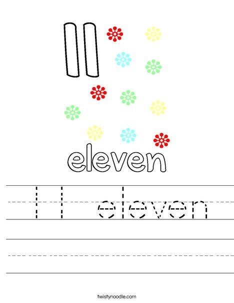 11 eleven Worksheet