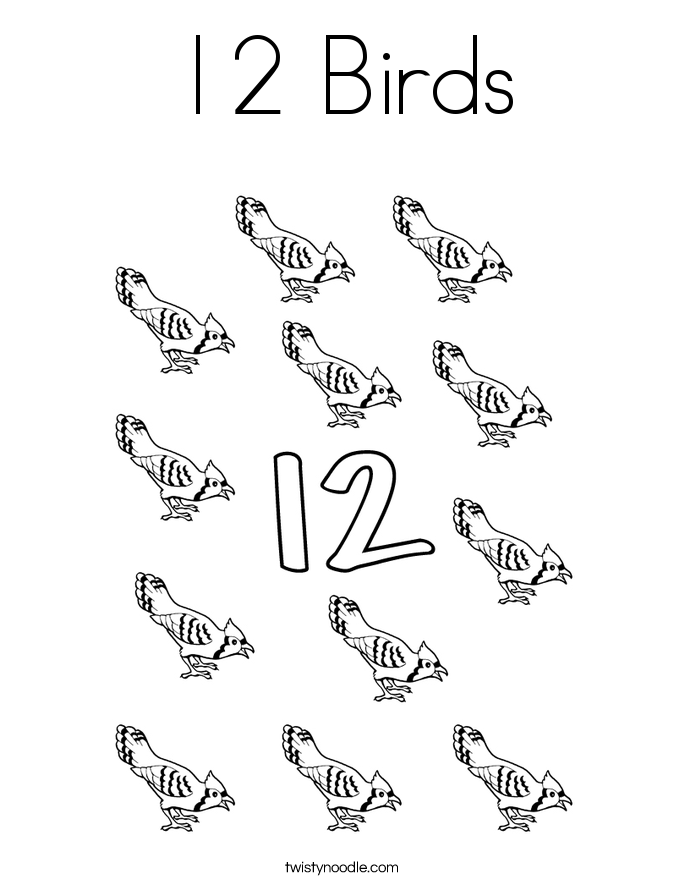 Number 12 Coloring Pages Twisty Noodle