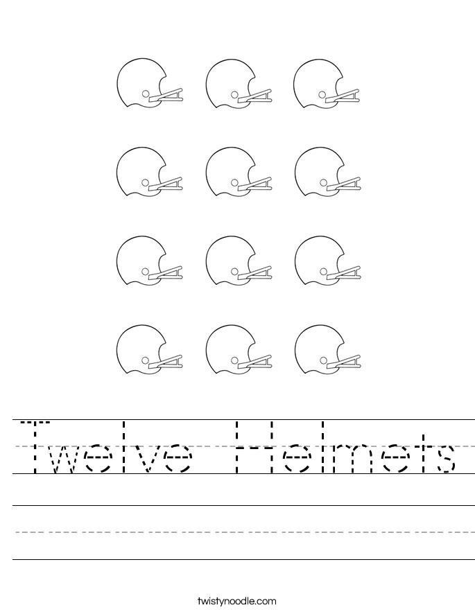 Twelve Helmets Worksheet
