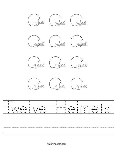 12 Helmets Worksheet