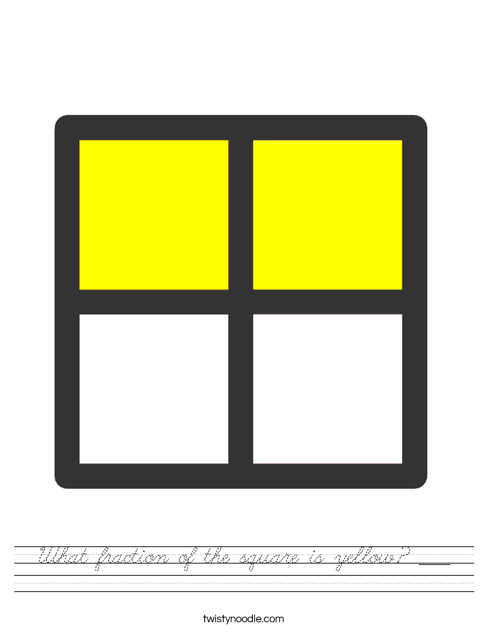 What fraction of the square is yellow? ____ Worksheet
