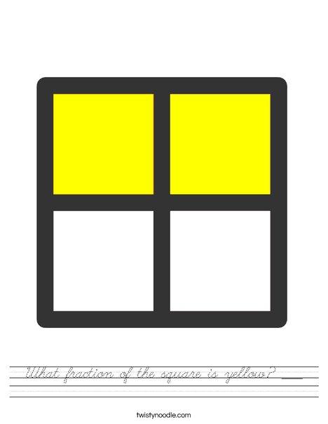 1/2 Square Worksheet