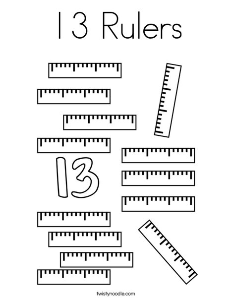 13 Rulers Coloring Page