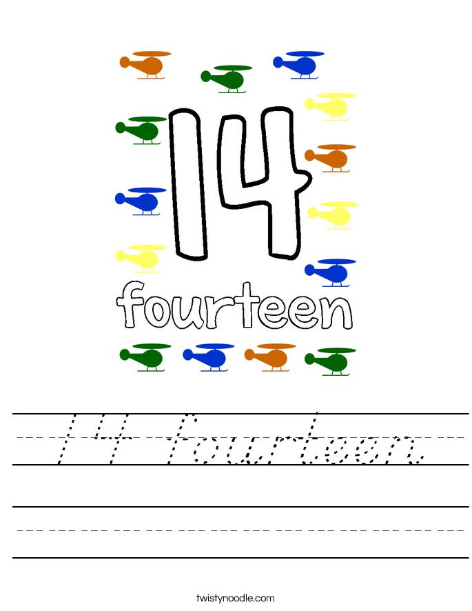 14 fourteen Worksheet
