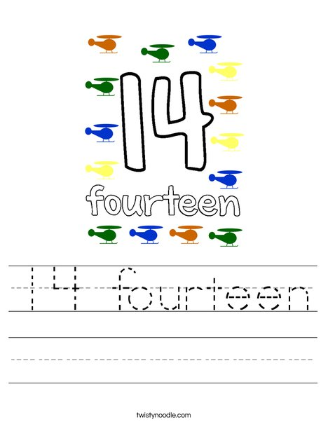 14 fourteen Worksheet
