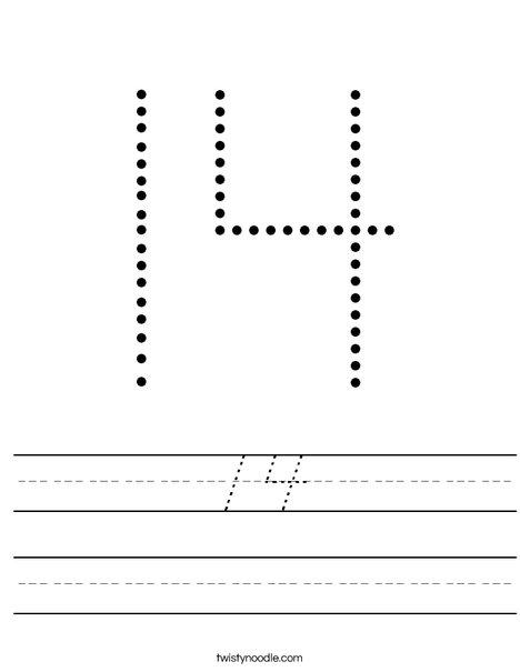 14 Worksheet