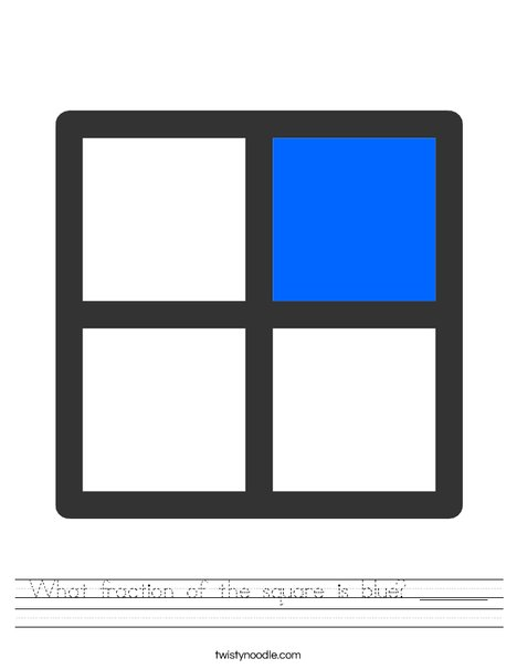 1/4Fraction Worksheet
