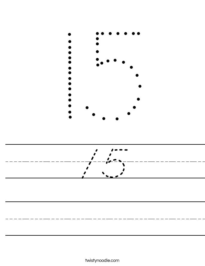 15 Worksheet