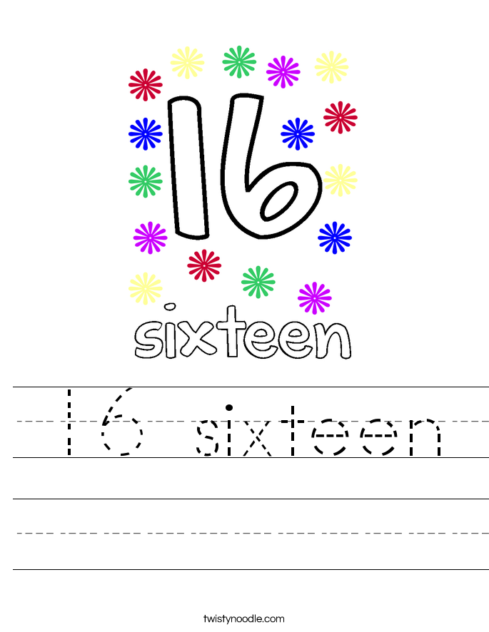 16 sixteen Worksheet