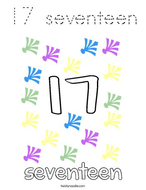 17 seventeen Coloring Page