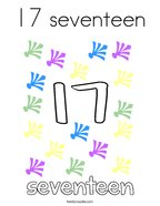 17 seventeen Coloring Page