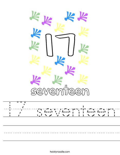 17 seventeen Worksheet