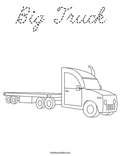18 Wheeler Coloring Page