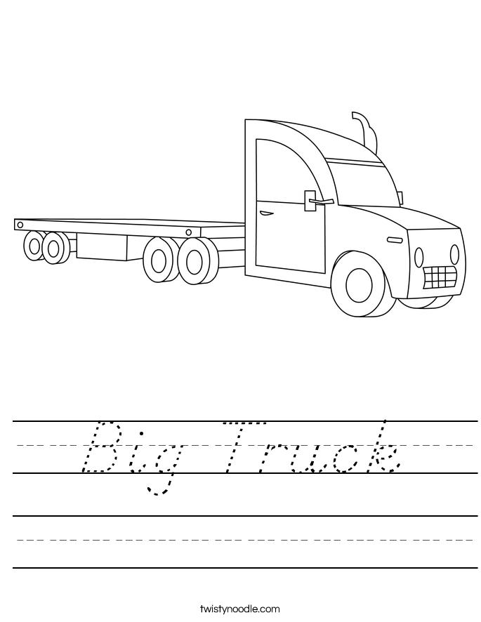 Big Truck Worksheet