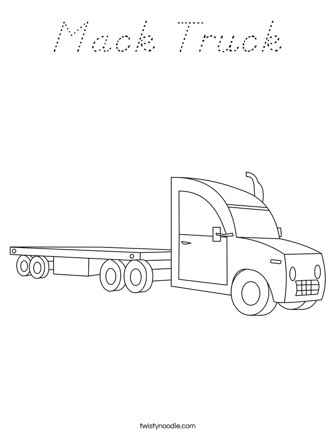 Mack Truck Coloring Page