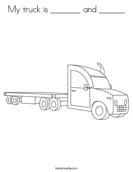 18 wheeler truck coloring pages - Clip Art Library | 605x468