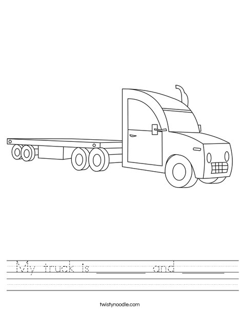 18 Wheeler Worksheet