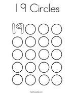 19 Circles Coloring Page
