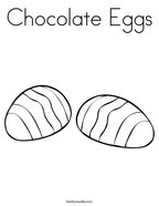 Chocolate Eggs Coloring Page