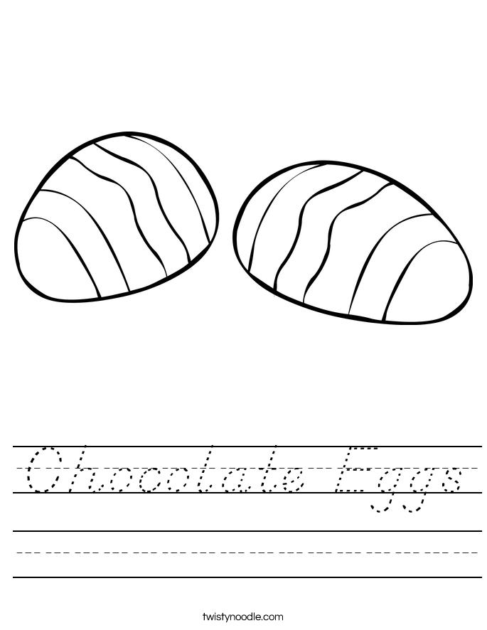 Chocolate Eggs Worksheet