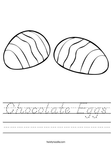 2 Easter Eggs Worksheet