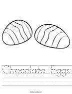 Chocolate Eggs Handwriting Sheet