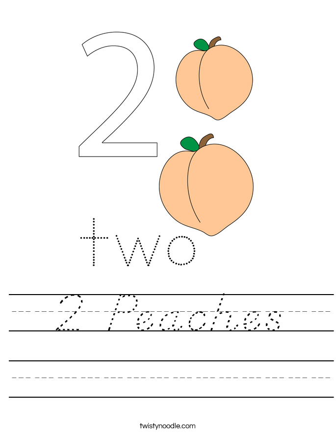 2 Peaches Worksheet