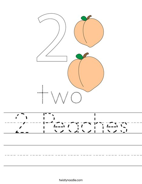 2 Peaches Worksheet
