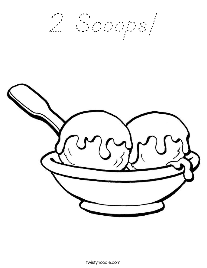 2 Scoops! Coloring Page