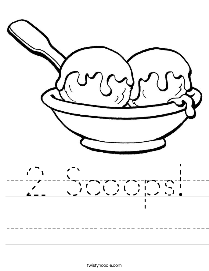 2 Scoops! Worksheet