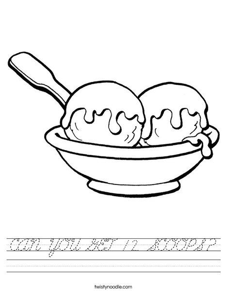 2 scoops ice cream Worksheet