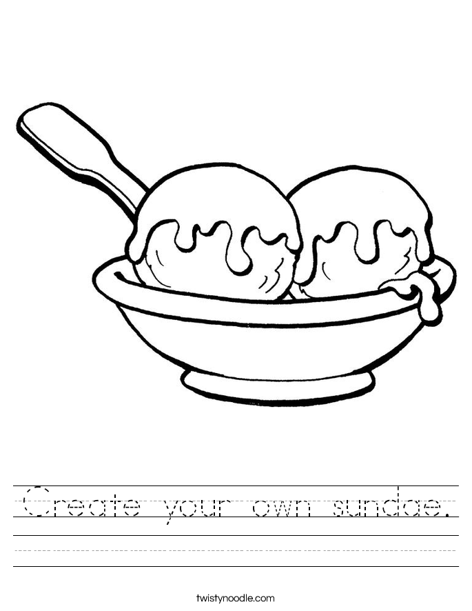 Create your own sundae. Worksheet