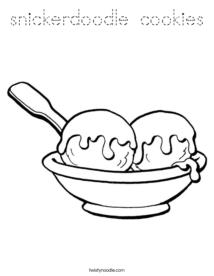 snickerdoodle cookies Coloring Page