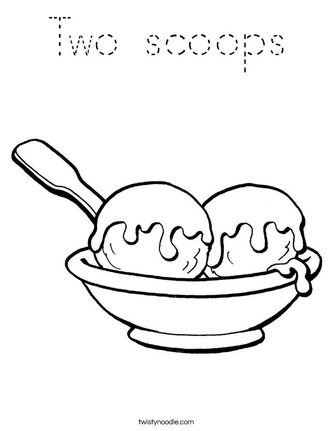 Two scoops Coloring Page