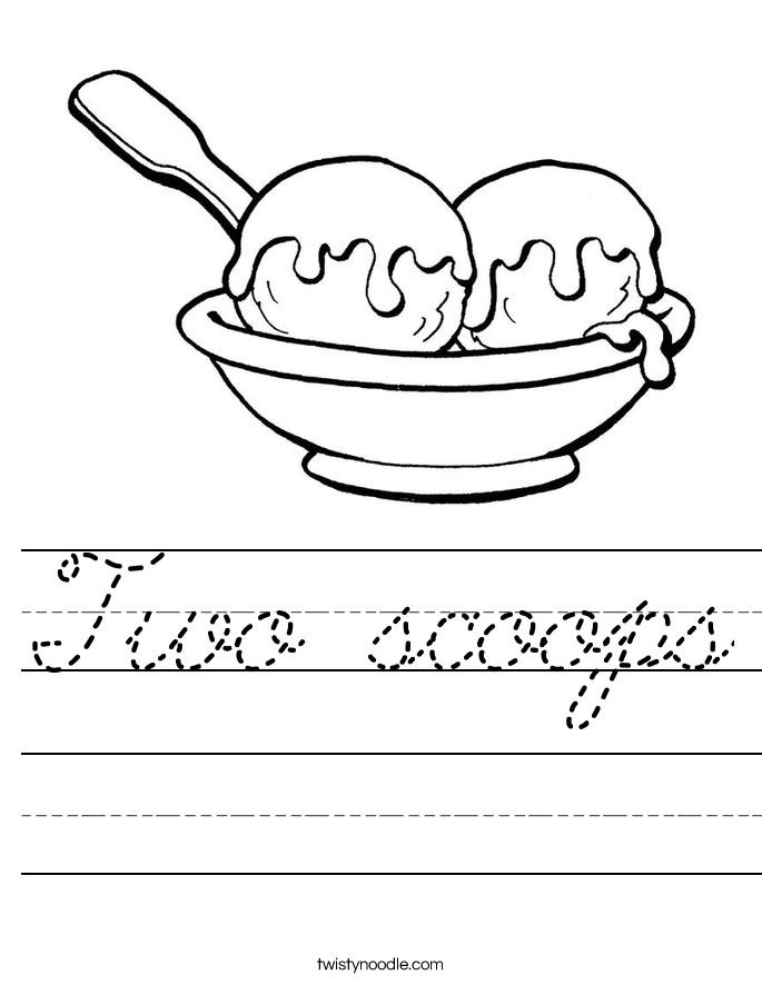 Two scoops Worksheet
