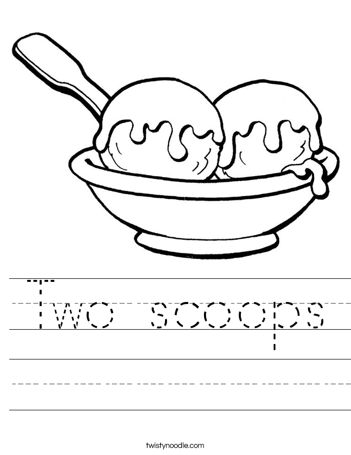 Two scoops Worksheet