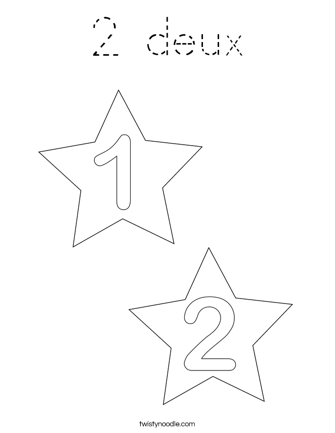 2 deux Coloring Page