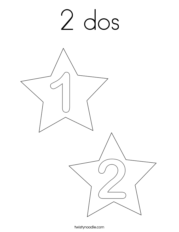 2 dos Coloring Page