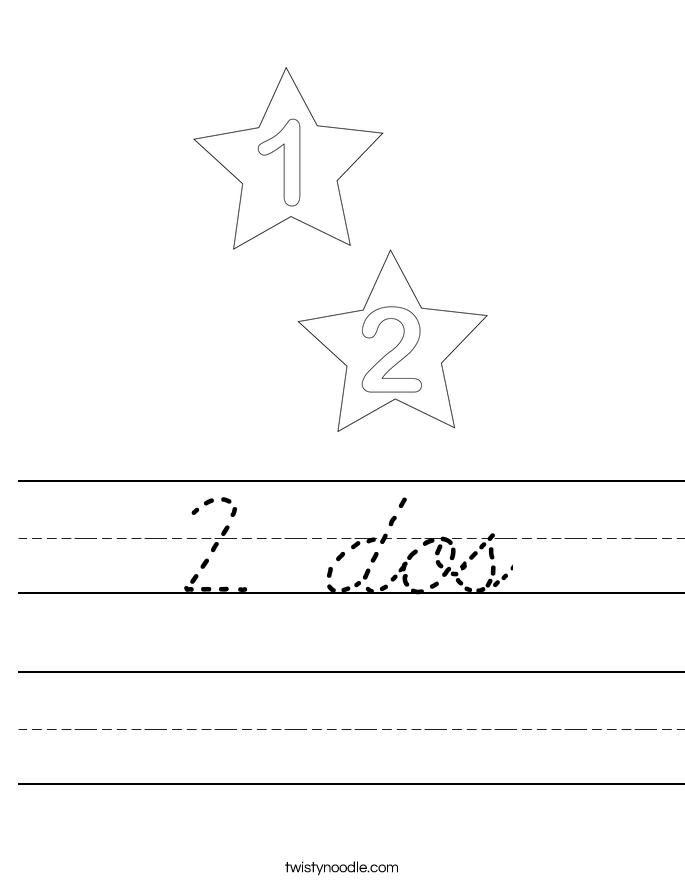2 dos Worksheet