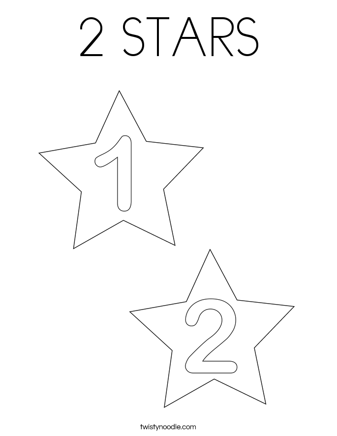 star colouring pages page 3