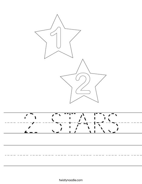 2 Stars Worksheet